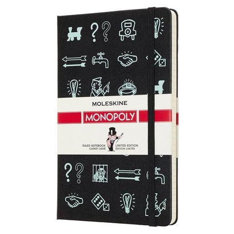 Блокнот Moleskine Limited Edition MONOPOLY LEMOQP060 Large 130х210мм 240стр. линейка прошитый Icons