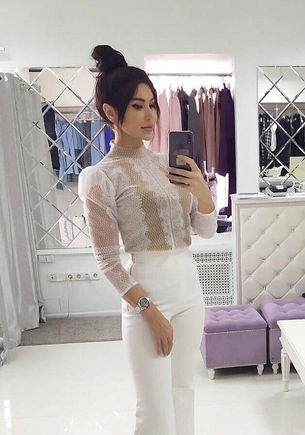 Блуза белая кружевная с крылышками