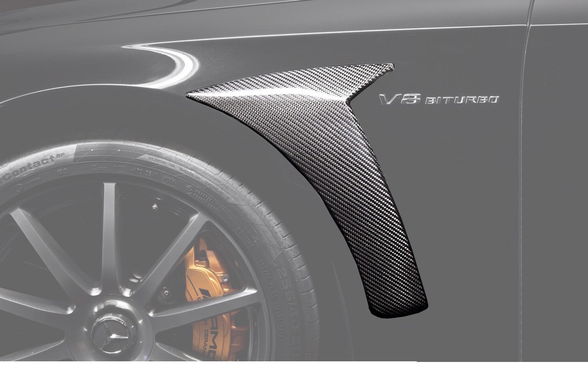 Карбоновые воздухозаборники на крылья 63 AMG Brabus Style для Mercedes С-class W205