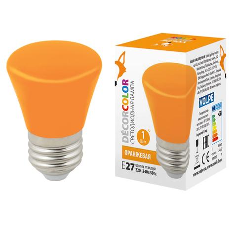LED-D45-1W/ORANGE/E27/FR/С BELL Лампа декоративная светодиодная. Форма