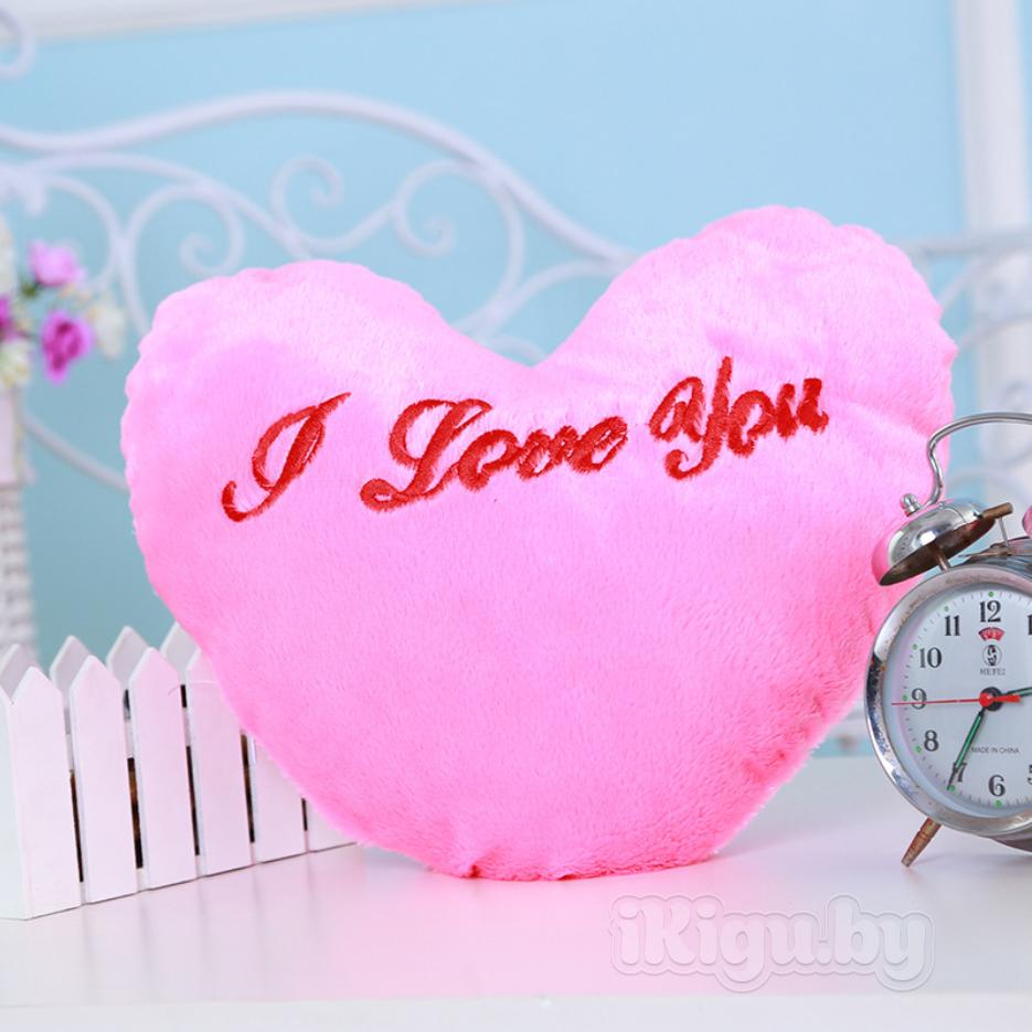 """Подушки Светящаяся подушка """"Сердце"""" подушка_розовая.jpg"""