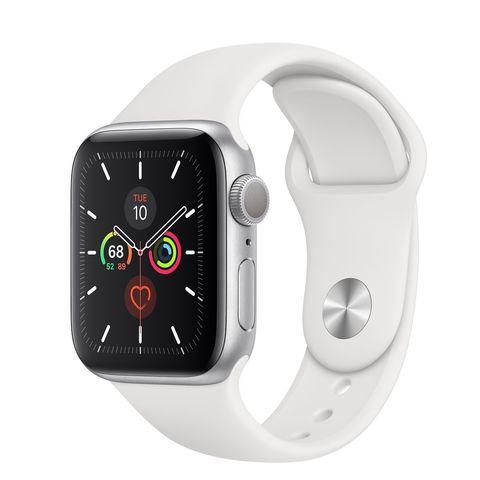 Часы Apple Watch Series 5 GPS 40mm Aluminum Case with Sport Band Серебристый/Белый