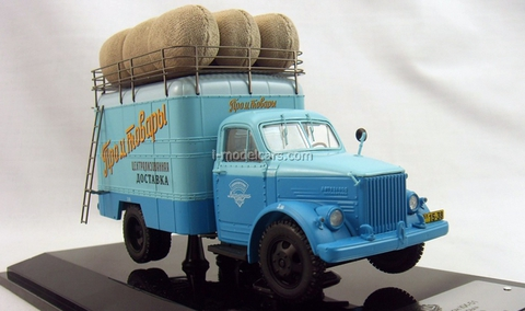 GAZ-51 Van advertising Manufactured goods DIP 1:43