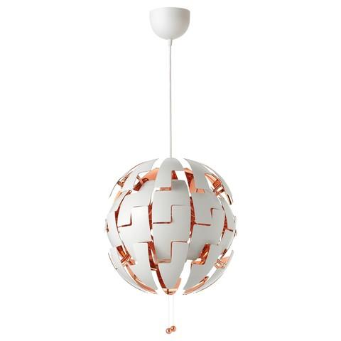 ИКЕА ПС 2014 Подвесной светильник белый, медный