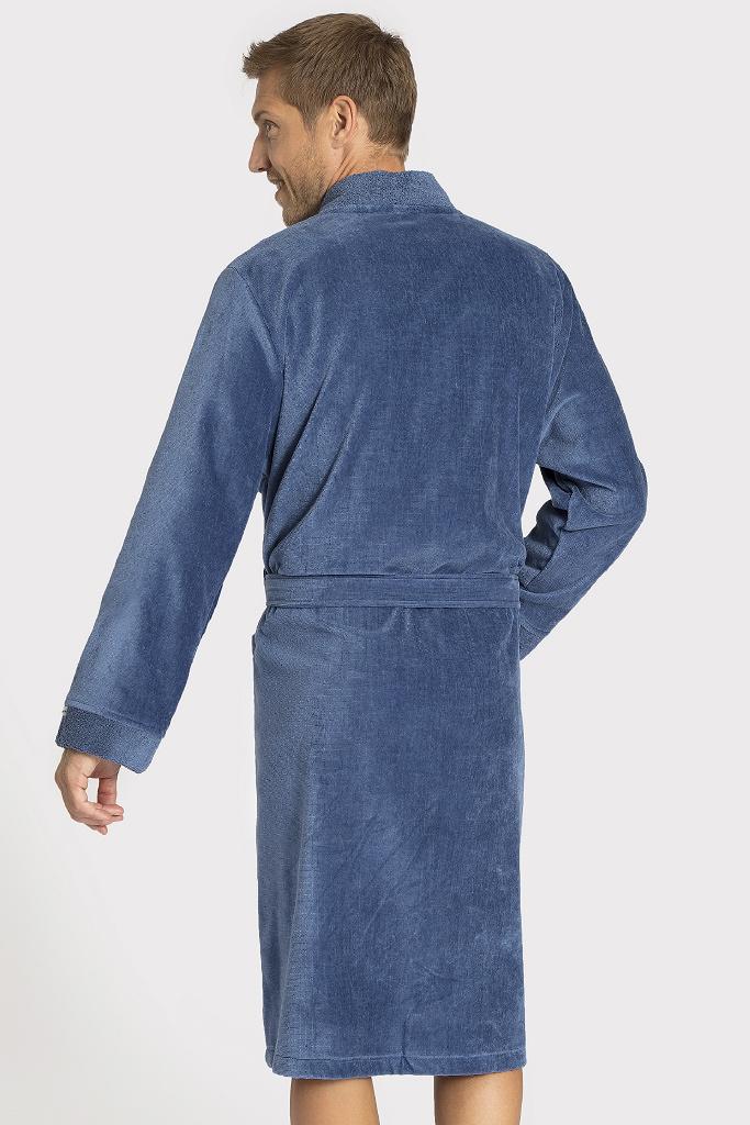 Мужской махровый халат с капюшоном Taubert