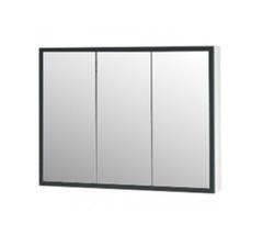 Зеркало-шкаф Corozo Айрон 90, черный/белый