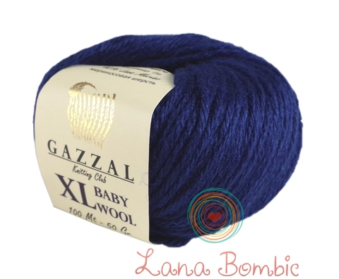 Пряжа Gazzal Baby Wool XL темно-синий 802