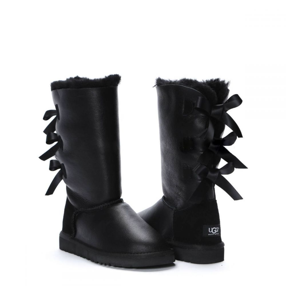 УГГИ BAILEY BOW TALL METALLIC BLACK 7152W