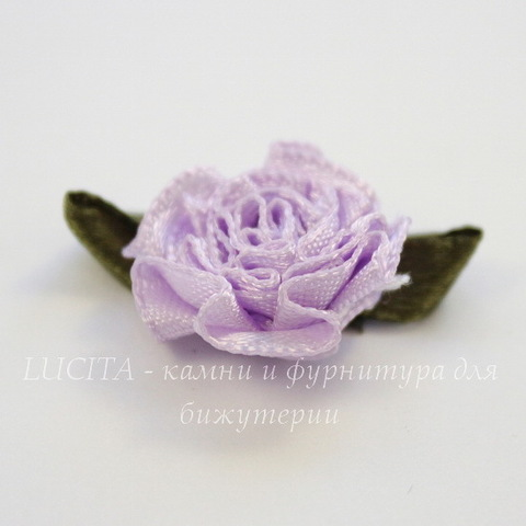 Цветочек с листиком сиреневый 28 мм