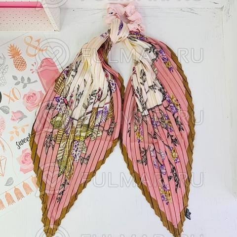 Плиссированный платок с резинкой модный аксессуар для волос Ракушки (цвет: розовый)