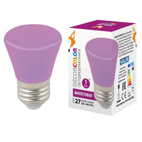 LED-D45-1W/PURPLE/E27/FR/С BELL Лампа декоративная светодиодная. Форма