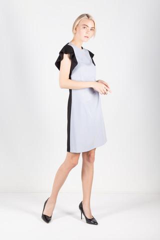 Фото комбинированное платье прямого силуэта с рукавами-крылышками - Платье З426-705 (1)