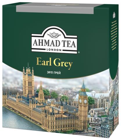 Чай черный «Ahmad» Эрл Грей в конвертах из фольги 100х2г