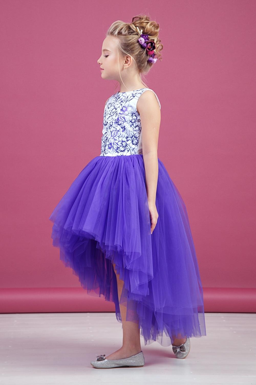 Платье фиолетовое для девочки 38-9012-4