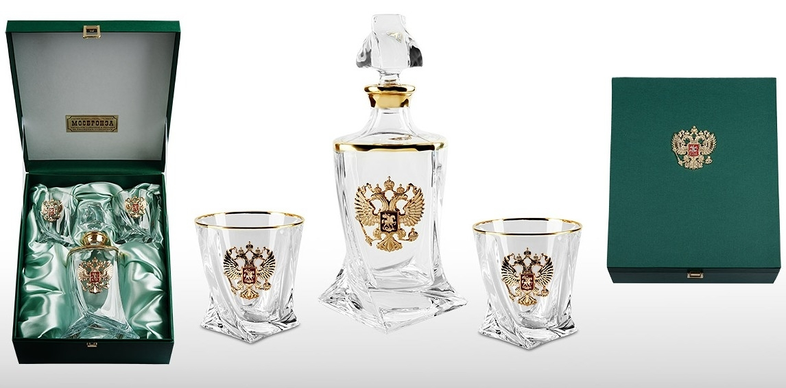 Набор стаканов для виски со штофом «Премьер» набор стаканов для виски 6 шт bohemia набор стаканов для виски 6 шт