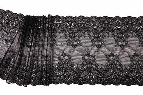 Кружево эластичное черное 21 см