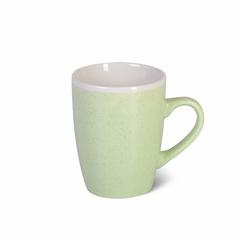6074 FISSMAN Кружка 380мл, цвет Зеленый (керамика)