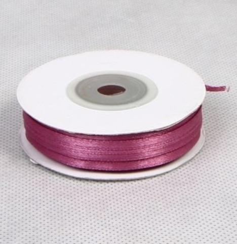 Лента атласная (размер: 3 мм х 50 м) Цвет: бордовая