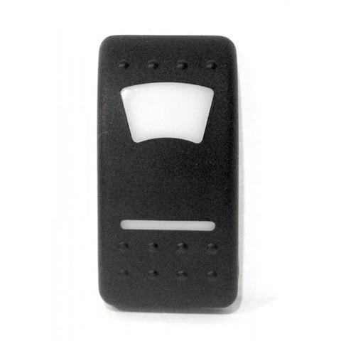 Клавиша переключателя, пластик, черная