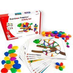 Обучающий набор Радужные камешки с карточками, Edx education 13206