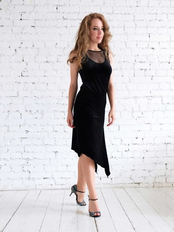 Платье для танго из бархата