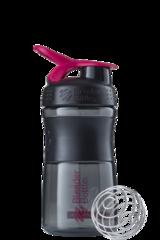 BlenderBottle SportMixer, Универсальная Спортивная бутылка-шейкер с венчиком.  Black-Pink-черный-малиновый 591 мл