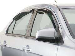 Дефлекторы боковых окон для Kia Rio Хэтчбек 2011- темные, 4 части, SIM (SKIRIOH1232)