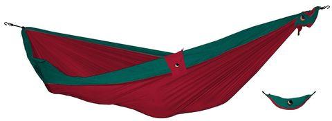 Картинка гамак туристический Ticket to the Moon Compact Hammock Red - Emerald Green