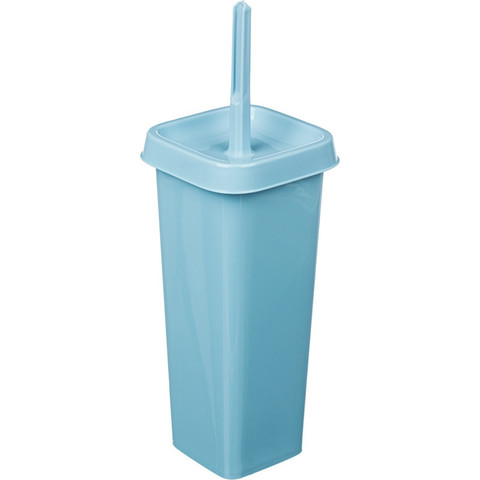 Ершик для унитаза угловой Svip Лотос Квадра напольный с подставкой из пластика квадратный голубой