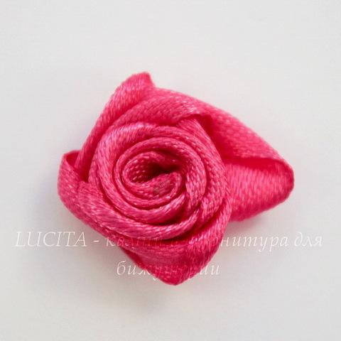 Роза атласная малиновая 15 мм, 5 штук