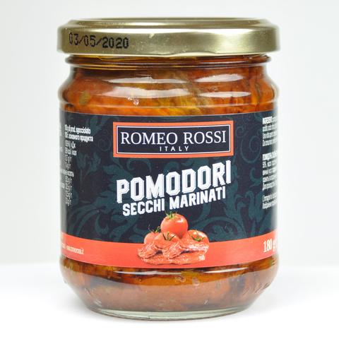 Помидоры ROMEO ROSSI вяленые маринованные в подсолнечном масле с оригано 180 гр