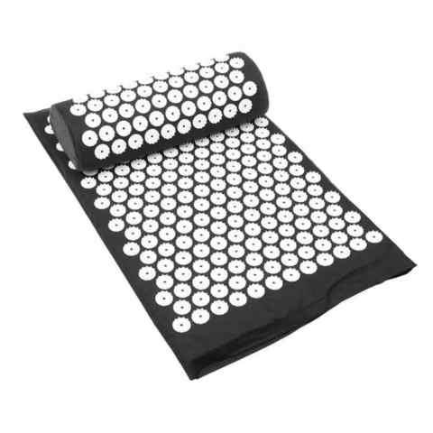 Массажный коврик Acupressure с подушкой ( Черный)