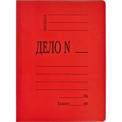 Скоросшиватель картонный Attache Дело № А4 до 200 листов красный (плотность 360 г/кв.м)