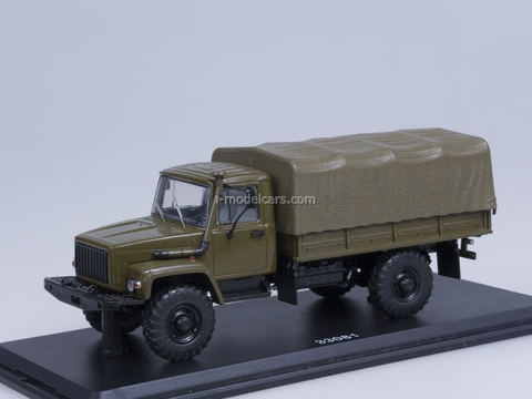 GAZ-33081 4x4 engine D-245.7 Diesel Turbo with awning khaki Start Scale Models (SSM) 1:43