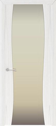 Дверь Буревестник-2 стекло белое (ясень белый жемчуг, остекленная шпонированная), фабрика Океан
