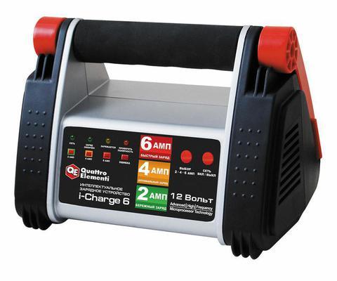 Зарядное устройство QUATTRO ELEMENTI i-Charge  6 (12В, 6/4/2 А) полный автомат (771-145)
