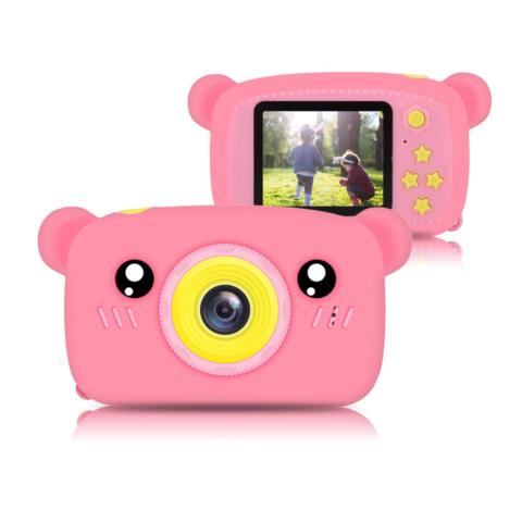 Фотоаппарат детский SmileZoom Мишка без селфи-камеры / Розовый