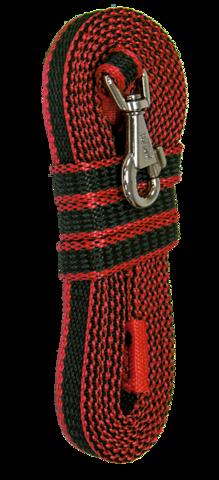 Зооник поводок капроновый с двойной латексной нитью 3м* 15мм, красный