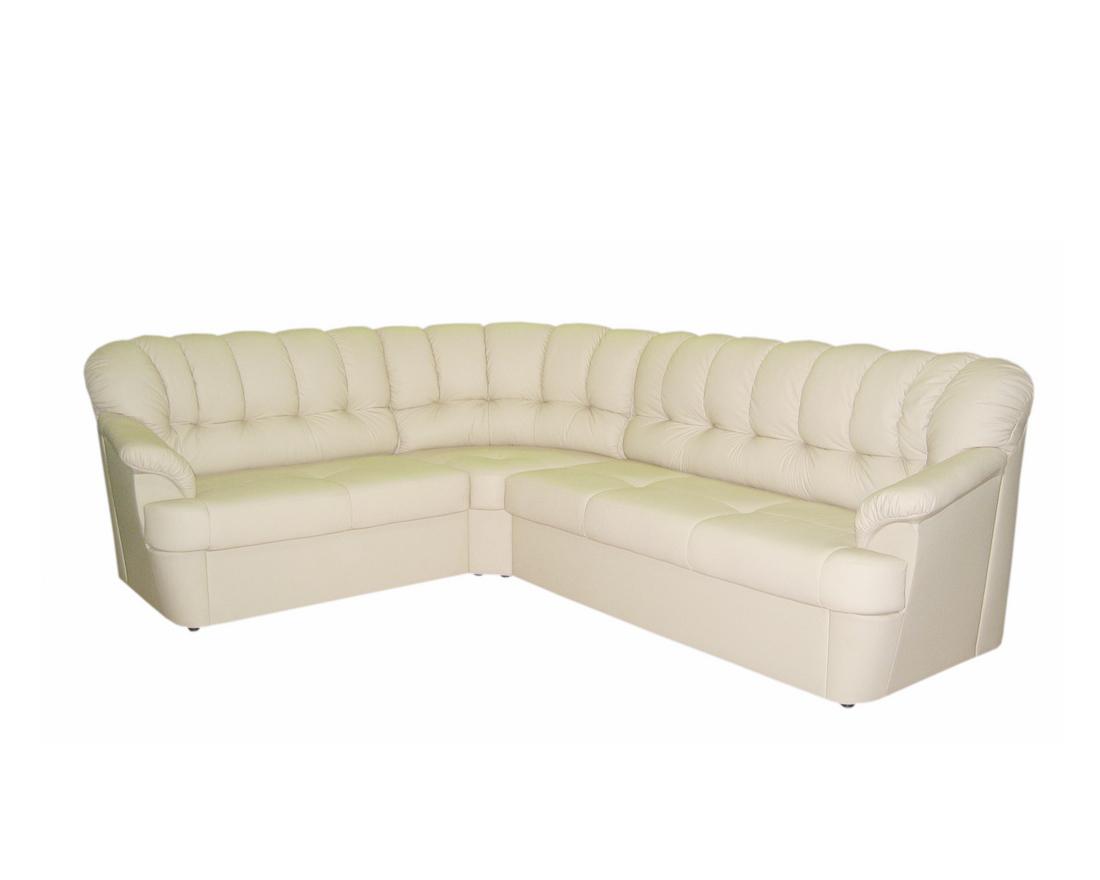 Уговой диван из натуральной кожи Калифорния 2с3