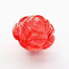 Бусина акриловая Роза красная 25х21 мм