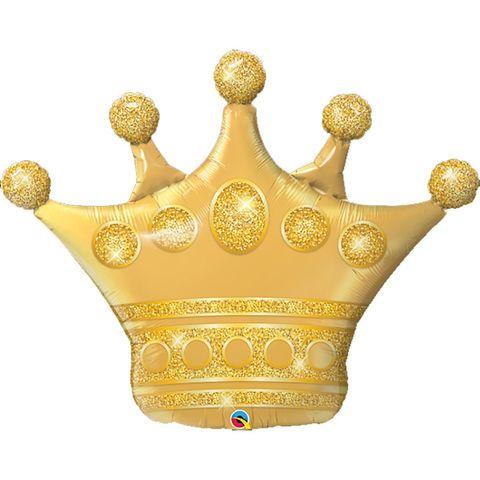 Воздушный шар фигура Корона золотая, 104 см