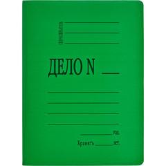 Скоросшиватель картонный Дело № А4 до 200 листов зеленый (плотность 360 г/кв.м)