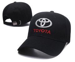 Модная бейсболка с вышивкой Тойота (Кепка Toyota) черная 02