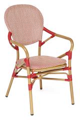 Кресло Амели (Ameli) (mod. AD642010 TXT) — коричневый //красно/белый