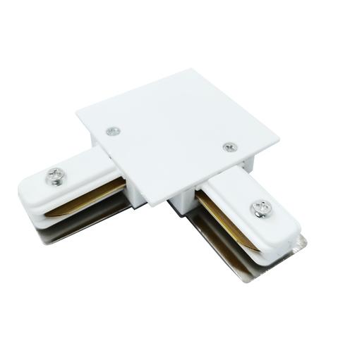 Коннектор угловой для однофазного встраиваемого шинопровода (белый) TRCM-1-1-L-WH