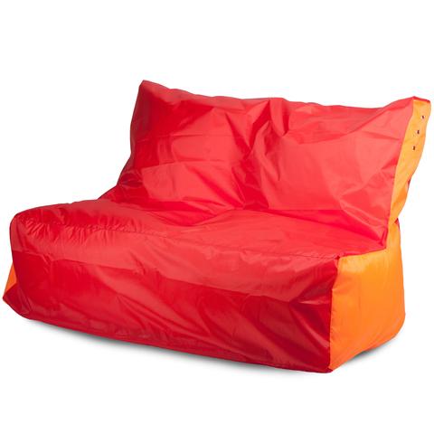 Бескаркасное кресло «Диван», Красный и оранжевый