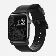 Ремешок Nomad Modern Strap для Apple Watch 44mm/42mm кожа, черный / черный