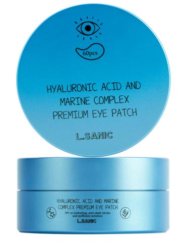 L.Sanic Premium Патчи под глаза гидрогелевые с гиалуроновой кислотой и экстрактом водорослей