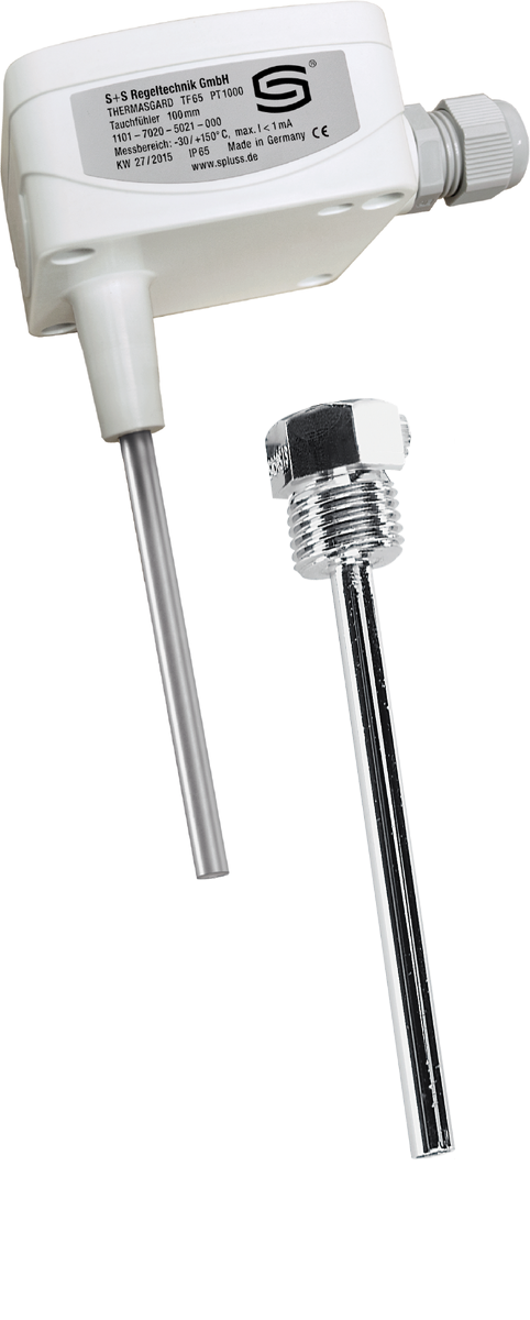 Датчик температуры погружного типа типа S+S TF65 PT1000 с гильзой TH08-MS 100мм