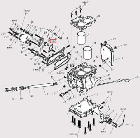 Термостат для лодочного мотора F9.8 Sea-PRO (3-33)